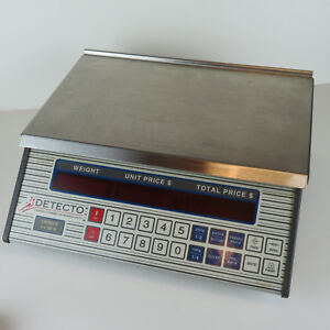 Detecto 6lb Digital Deli Scale Stainless Steel Tray Usa Made Pc 10 B
