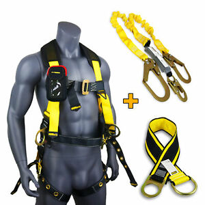 Kwiksafety Typhoon Kit Back Support Safety Harness 6 Lanyard Anchor Strap