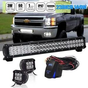 144w 23inch Led Light Bar Combo Beam Offroad Lamp Fit Jeep Atv Ford Boat Truck