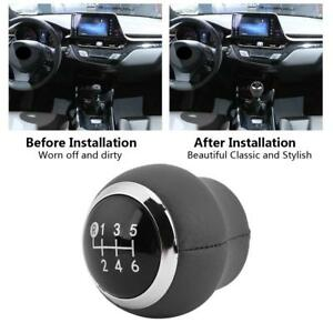 6 Speed Leather Gear Shift Knob For Toyota Corolla Verso Auris Yaris Rav4 07 13