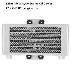 125ml Motorcycle Engine Oil Cooler Cooling Radiator For 125cc 250cc Silver Am