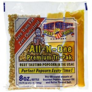 8oz Popcorn All N One 12 Pack Convenient Portion Gourmet Great Northern Company