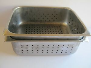 2 Pcs Perforated Steam Table Hotel Pans 1 2 Size 4 Deep Stainless Steel