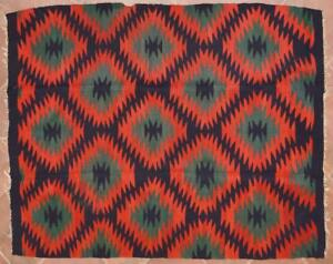Greek Thessaly Elassona Indian Style Old Handwoven Wool Kilim 147x200cm