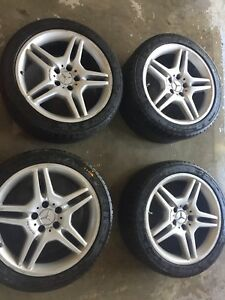 Mercedes Amg 18 Inch 4 Wheels Rims W Tires