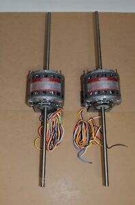 2 Dayton Electric Double Shaft Motors 4m038a 1 10 Hp 1050 Rpm 115v Shaded Pole