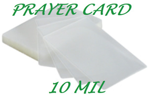 1000 Prayer Card Laminating Pouches Sheets 10 Mil 2 3 4 X 4 1 2 Clear Quality