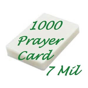 1000 Prayer Card Laminating Pouches Laminator Sheet 7 Mil 2 3 4 X 4 1 2 Scotch Q