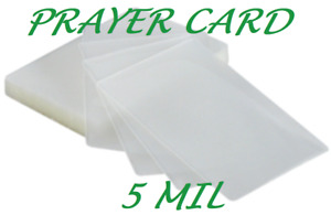 5000 Prayer Card Laminating Pouches Sheets 5 Mil 2 3 4 X 4 1 2 Sleeve Quality