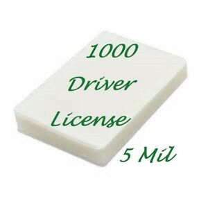 1000 Drivers License Laminating Laminator Pouches 5 Mil 2 3 8 X 3 5 8 Scotch Qua