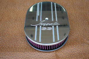 Chevy Impala Ss Vintage Chevrolet 12 Inch Oval Air Cleaner K N Washable Filter