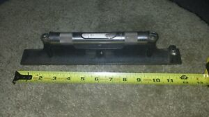 12 Starrett 98 12 Machinists Level With Ground And Graduated Vial