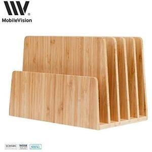 Bamboo Office Furniture Lighting Desktop File Folder Organizer And Paper Tray