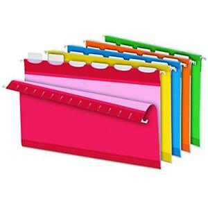 Ready tab Hanging Folders Interior Reinforced File Folders Legal Size 6 Tab