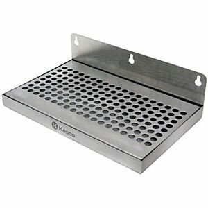 Beer Food Service Equipment Supplies Drip Tray 10 Stainless Steel Wall Mount