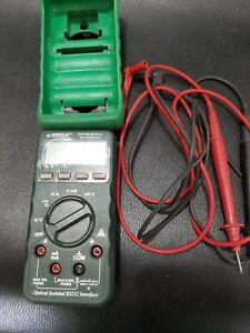 Greenlee Dm 200 Digital Multimeter tester With Protective Case