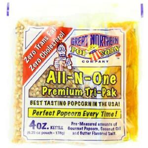 Great Unpopped Northern Popcorn 4 ounce Portion Packs pack Of 24