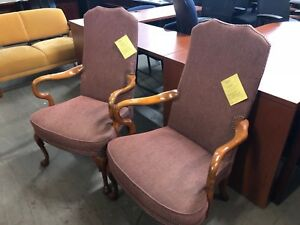 Lot Of 2 Guest side lobby Traditional Style Chairs By St Timothy