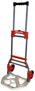 Milwaukee 150 lb Capacity Red Steel Folding Hand Truck Magna Ideal Heavy Cart
