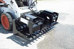 Skid Steer Root Grapple Hd 72 Wide tines Spaced 5 1 2 fits Bobcat cat case