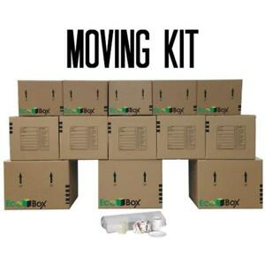 Brand Box Mailers Moving Kit 13 Small Medium Large Boxes Plus Supplies
