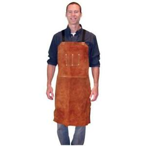 3836 Aprons Bib Leather 24x36dark Brown By