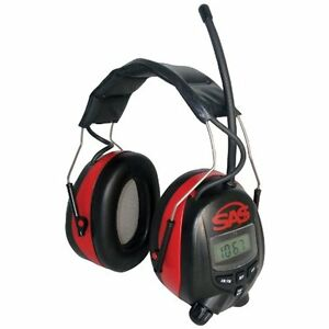 6108 Safety Ear Muffs Digital Earmuff Hearing Protection With Am fm Radio And