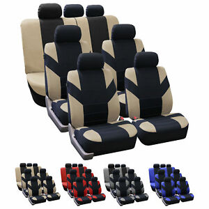 3 Row 7 Seat Seat Covers For Suv Van Full Complete Set Universal 5 Colors