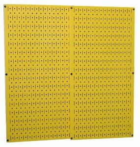 30 p 3232y Construction Boards Yellow Metal Pegboard Pack