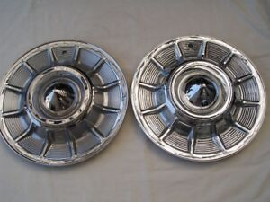 2 57 Cadillac Hub Caps Ford Mercury 49 51 Rat Rod Hot Street Vintage Custom