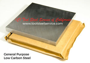 Low carbon A36 Steel 1 4 250 Thick 6 X 6 Ground Finish Plate