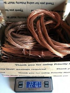 Scrap Copper 22 Lbs Bare Bright Wire