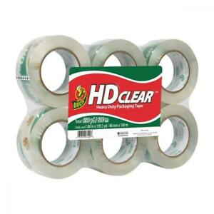 Duck Hd Clear Heavy Duty Packaging Tape Refill 6 Rolls 1 88 Inch X 109 3