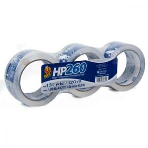 Duck Hp260 Packing Tape Refill 3 Rolls 1 88 Inch X 43 7 Yard Clear 280949