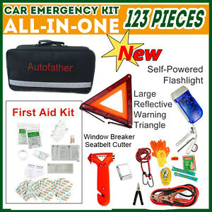 Upgrade Car Emergency Kit First Aid Medical Roadside Tool Home 123pcs All In One