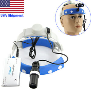 Dental Led Headlight Lamp 5w High power Surgical Medical Binocular Optical Glass