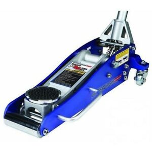 3000 Lb Aluminum Racing Floor Jack 1 5 Ton Low Profile Sports Car Compact Blue