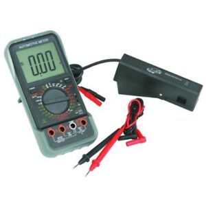 Lcd Automotive Multimeter With Tachometer Kit Black And Red Test Leads Bead Pr