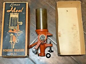 Reloading Vintage Lyman No. 55 Ideal Powder Measure WOriginal Box. As Pictured