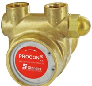 Procon Pump Series 1 Brass Rotary Vane W relief Valve 125gph 250psi 3 8 In out