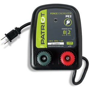 Patriot Pe2 Electric 110v ac Fencer 2 Mile 8 Acre fence Energizer
