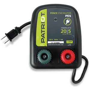 Patriot Pe5 Fence Charger energizer 5 Mile 110 Ac