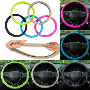Car Steering Wheel Cover Food Grade Silicone For 36 40cm Auto Steering Wheel