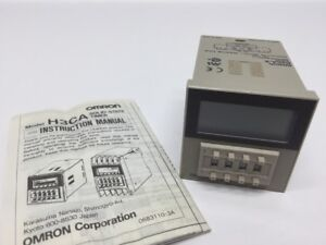 Nos Omron Digital Timer H3ca 8 24vdc 99 9s 9990h Delay H3ca Usa Stock