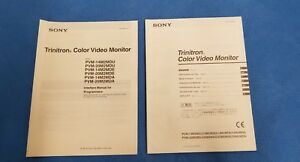 Sony Trinitron Color Video Monito Interface Manual For Programmers User Manual