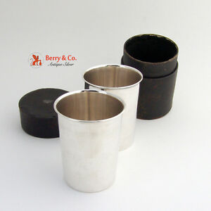 Stacking Traveling Cups Julep Sterling Silver Blanchard 1940