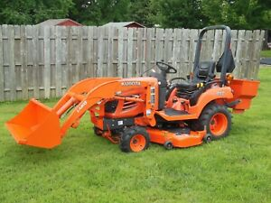 Kubota Bx1850 Tractor Loader 4x4 Diesel 54 In Deck Rear Weight Box Grill Guard
