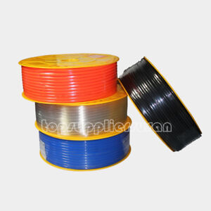 200m Pneumatic Red Polyurethane Pu Hose Tube Od 1 4 656 Ft Fuel Air Pipe