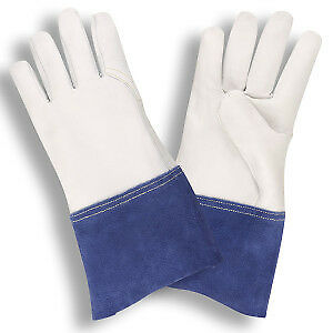 Cordova 8530s Premium Grain Goatskin Mig tig Welding Gloves With Gauntlet Cuff A
