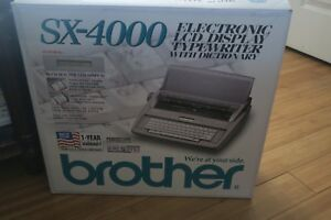 Brother Sx 4000 Electronic Lcd Display Typewriter With Dictionary Original Box